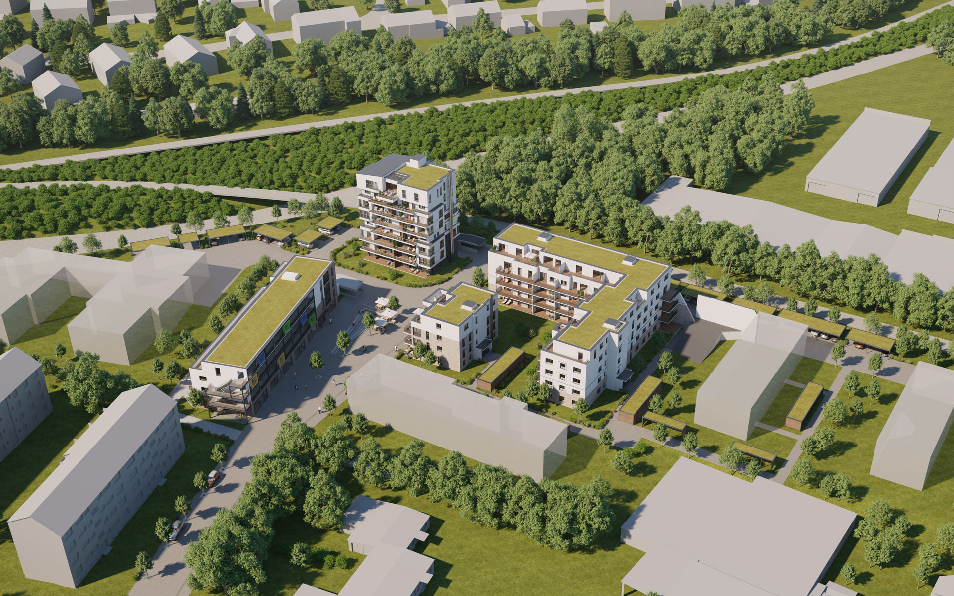OPUS Marketing / Immobilienmarketing / hugo49 Bayreuth / Visualisierung / Rendering