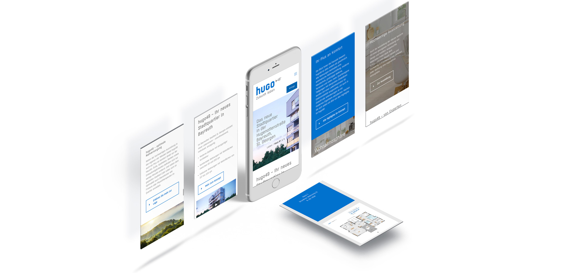 OPUS Marketing / Immobilienmarketing / hugo49 Bayreuth / Responsive Website