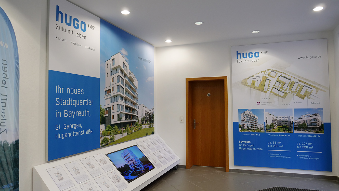 OPUS Marketing / Immobilienmarketing / hugo49 Bayreuth / Showroom