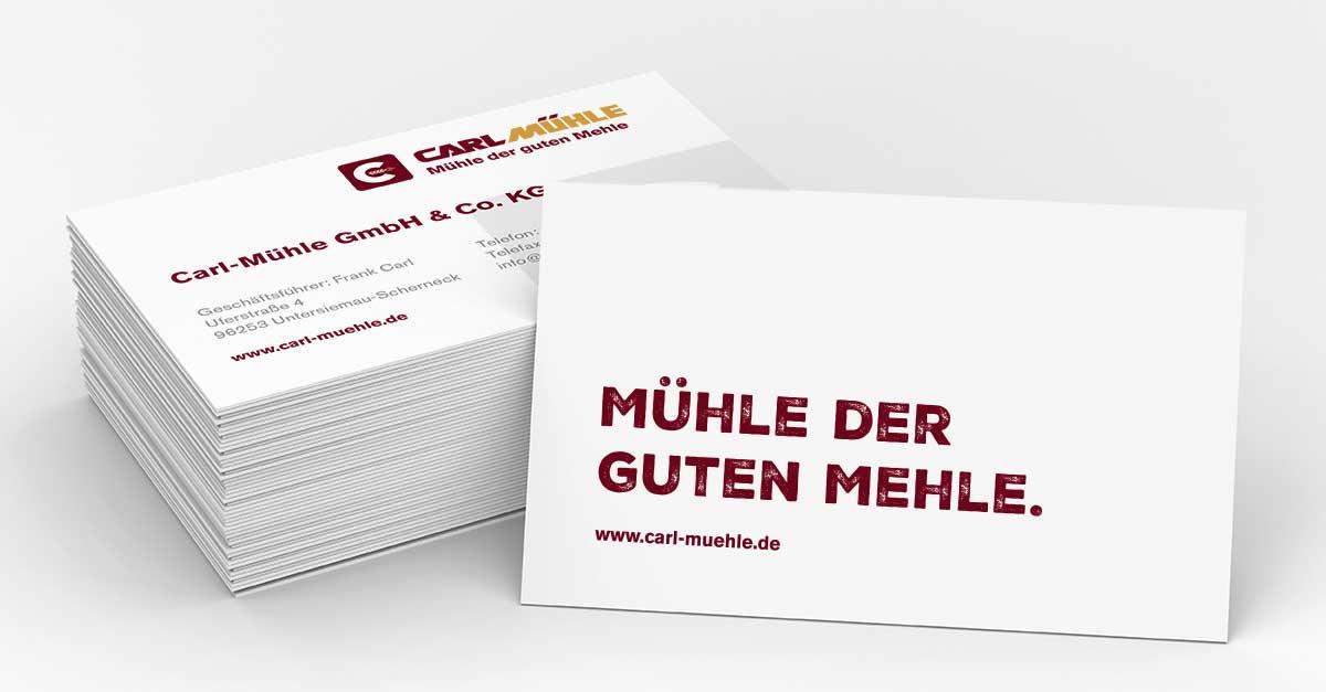 OPUS Marketing / Blog / Carl-Mühle / Visitenkarte