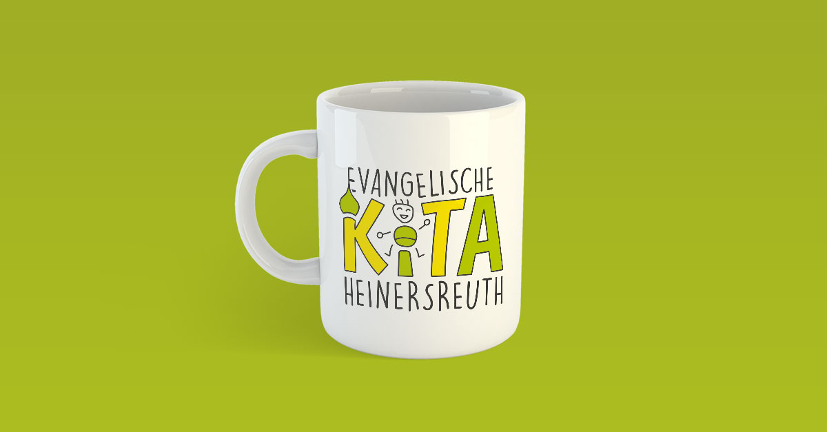 OPUS Marketing / Azubi-Projekt / Logo für Kita Heinersreuth auf Tasse