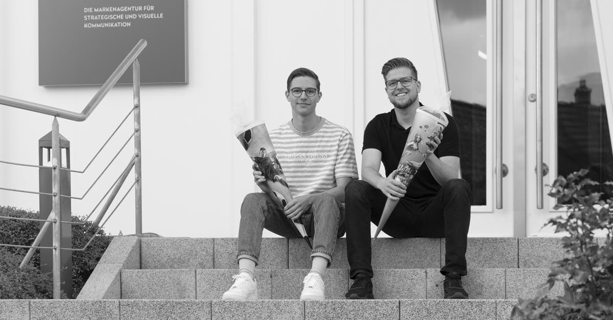 OPUS Marketing / Blog / neue Azubis / Jonas Wunderlich / Markus Baldauf