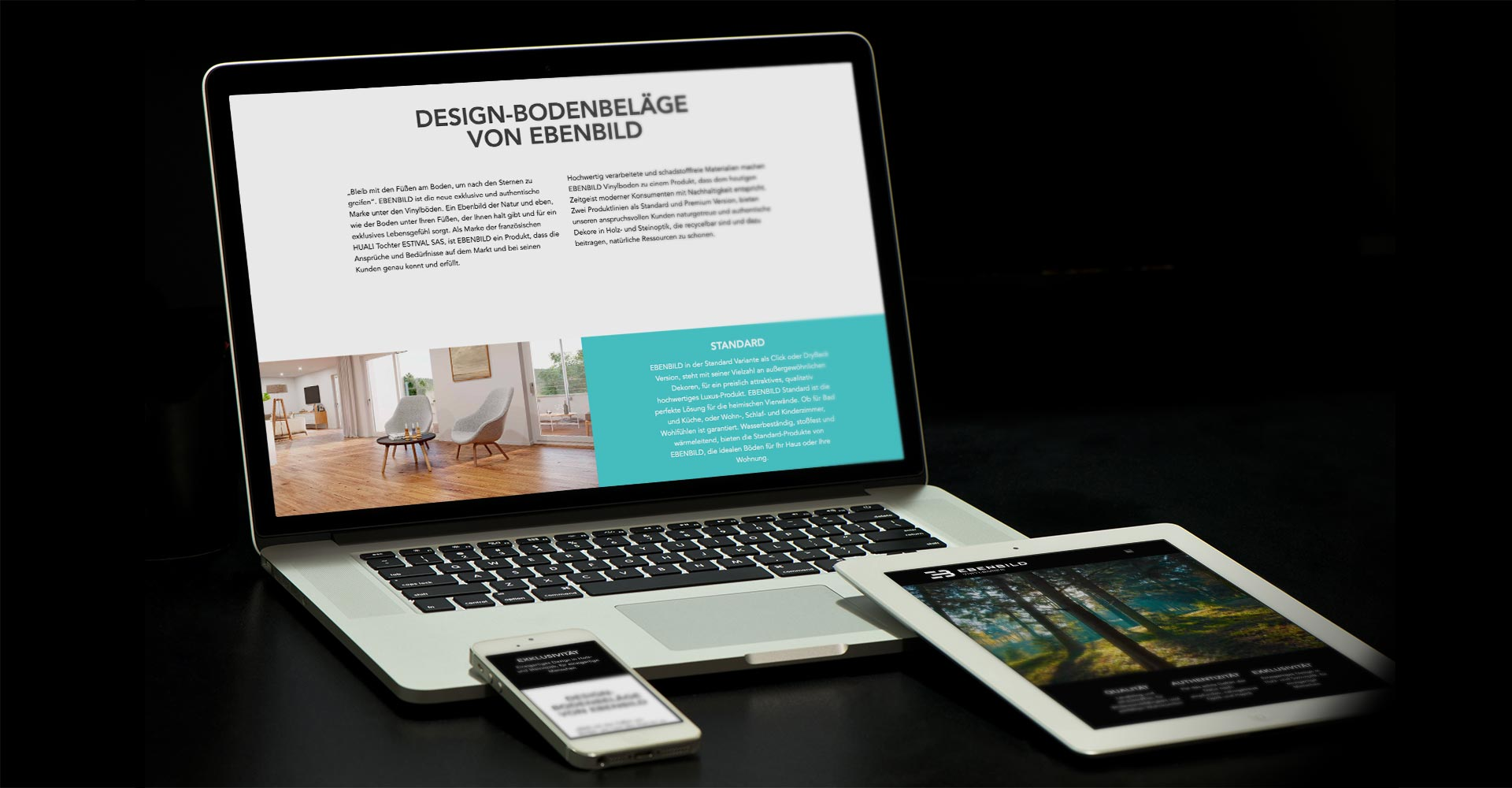 OPUS Marketing / Projekt / Ebenbild / Website