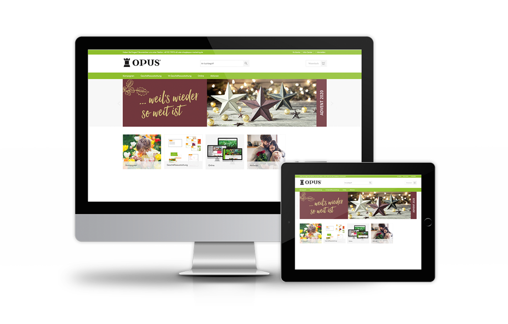 OPUS Marketing / Grüne Branche / Webshop