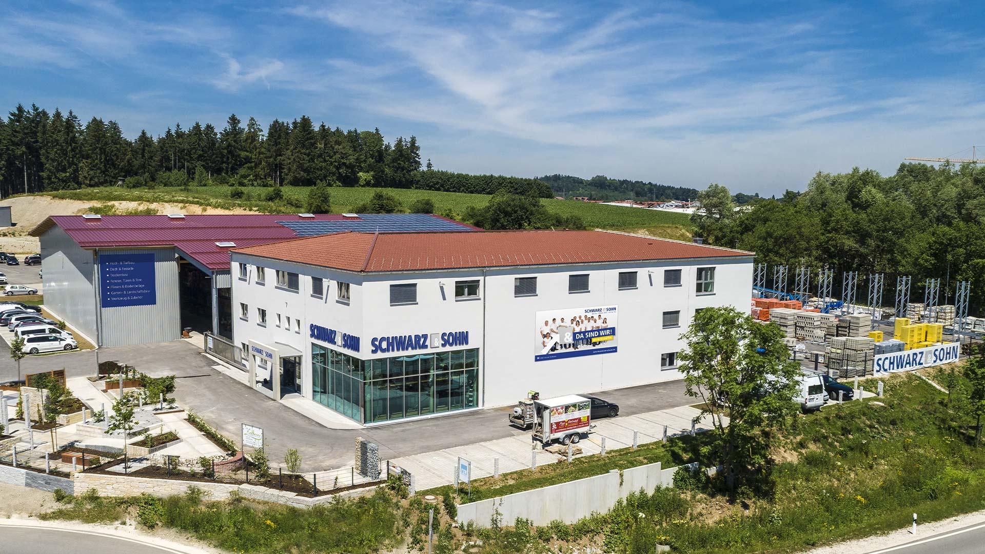 OPUS Marketing / Projekte / Schwarz und Sohn / Drohnenaufnahmen Gebäude