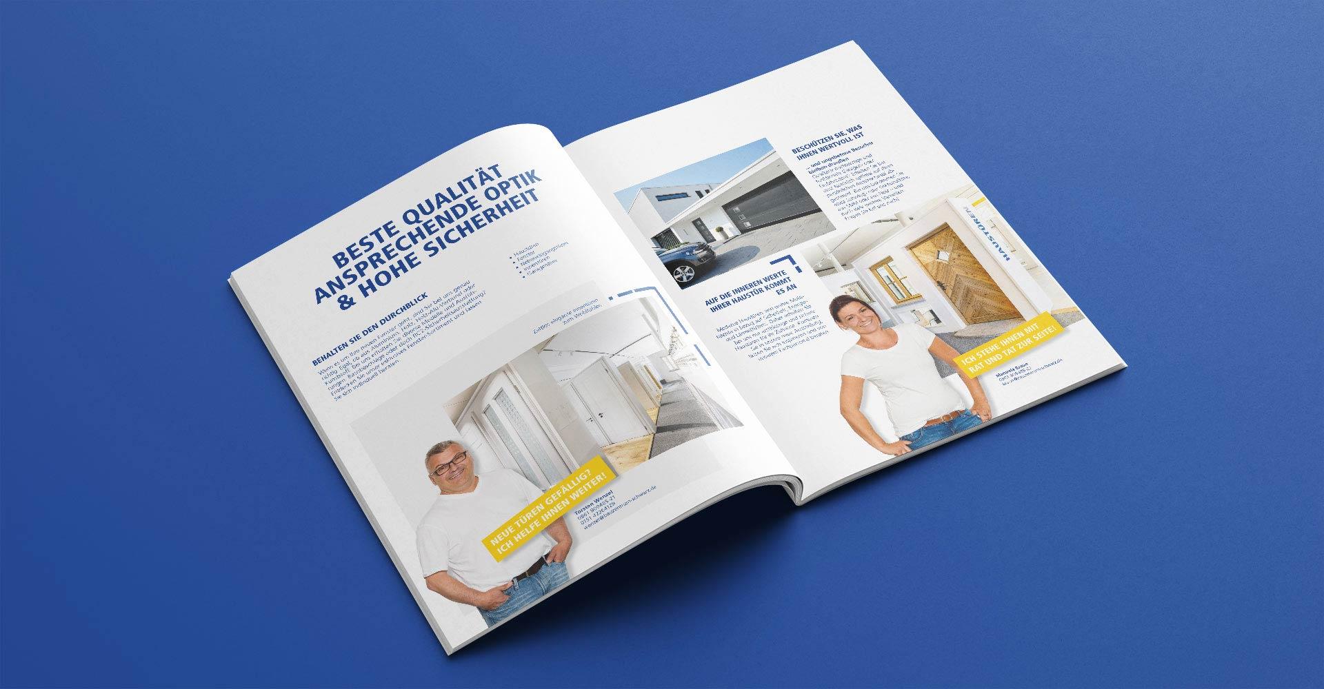 OPUS Marketing / Projekt / Schwarz und Sohn / Kampagne Broschüre offen