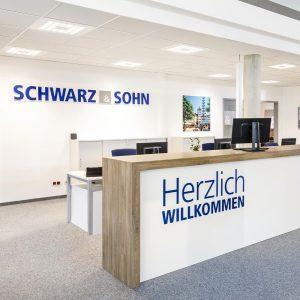 OPUS Marketing / Projekte / Schwarz und Sohn / Empfang