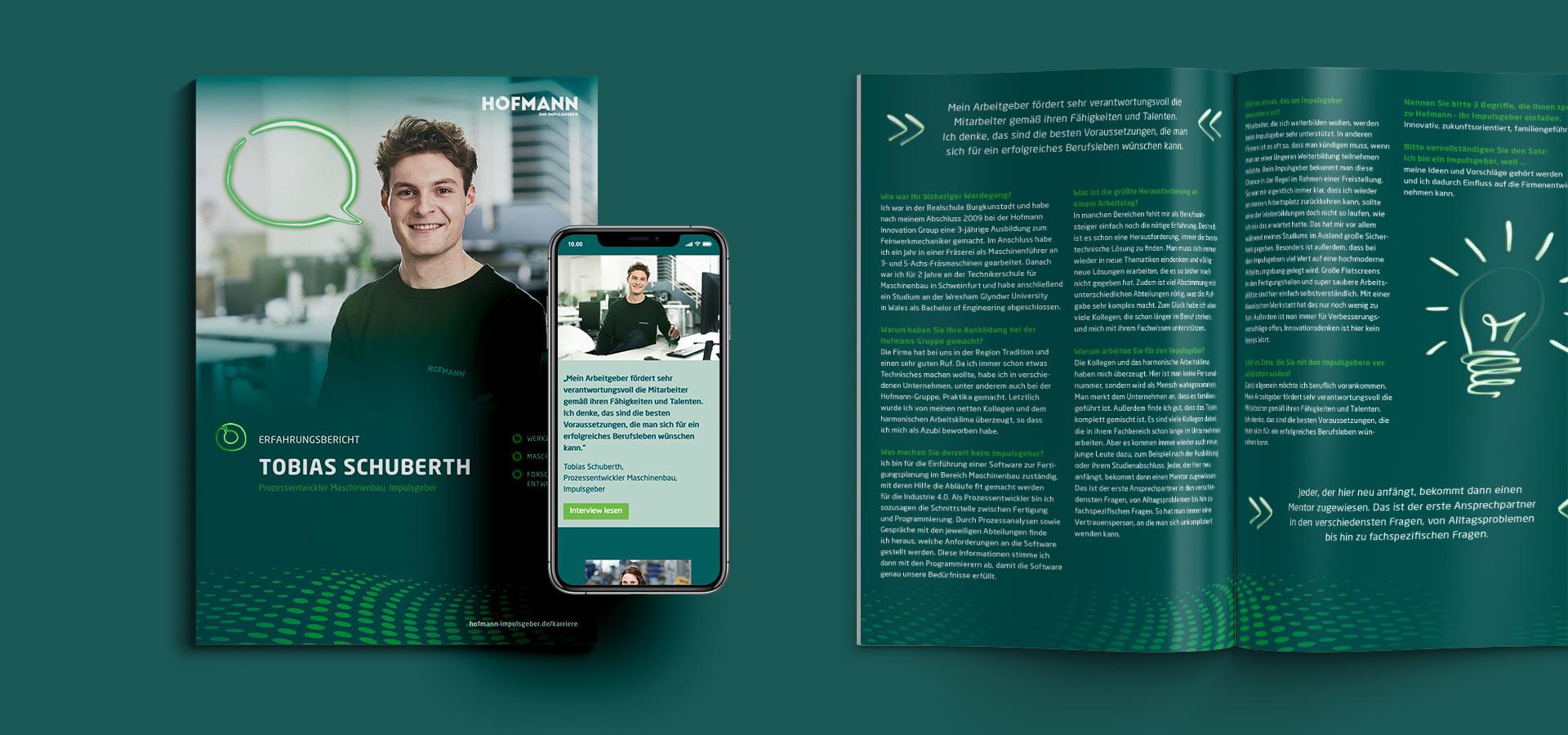 OPUS Marketing / Projekt / Hofmann Impulsgeber / Erfahrungsberichte