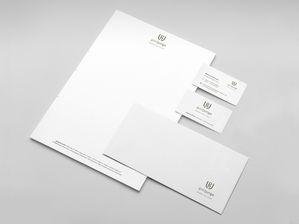 OPUS Marketing / Projekt / goldjunge / Markenaufbau / Geschäftsaustattung