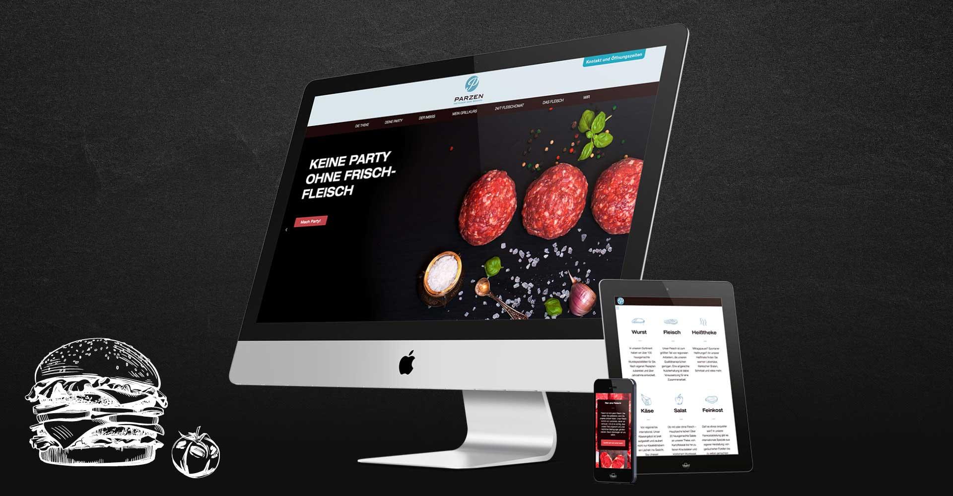 OPUS Marketing / Projekte / Metzgerei Parzen / Website / responsive