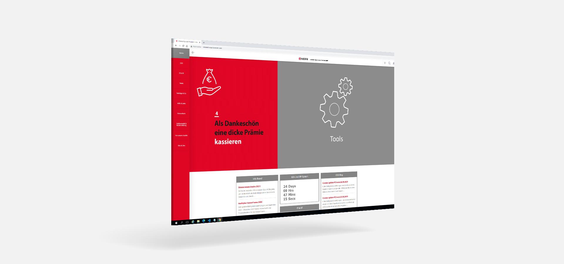 OPUS Marketing / Kyocera / Intranet