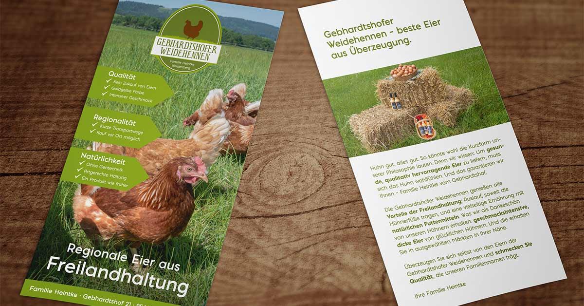 OPUS Marketing / Gebhardtshofer Weidehennen / Flyer