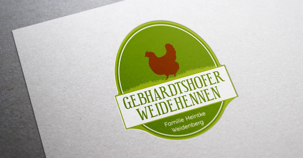 Gebhardtshofer Weidehennen / Logo