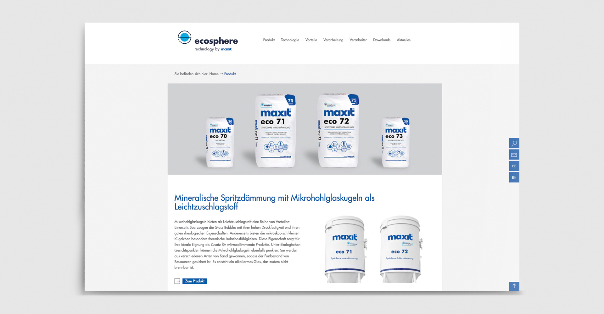 maxit ecosphere / Website