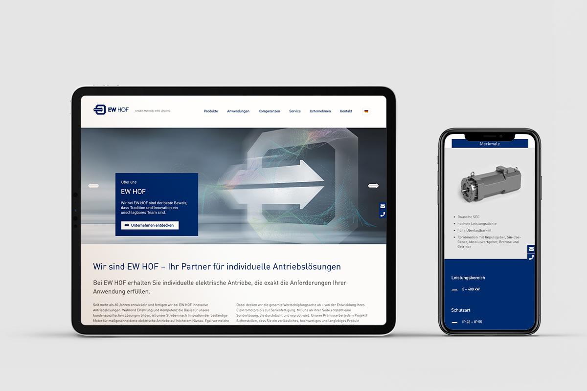 Markenrelaunch und neue Website für EW HOF