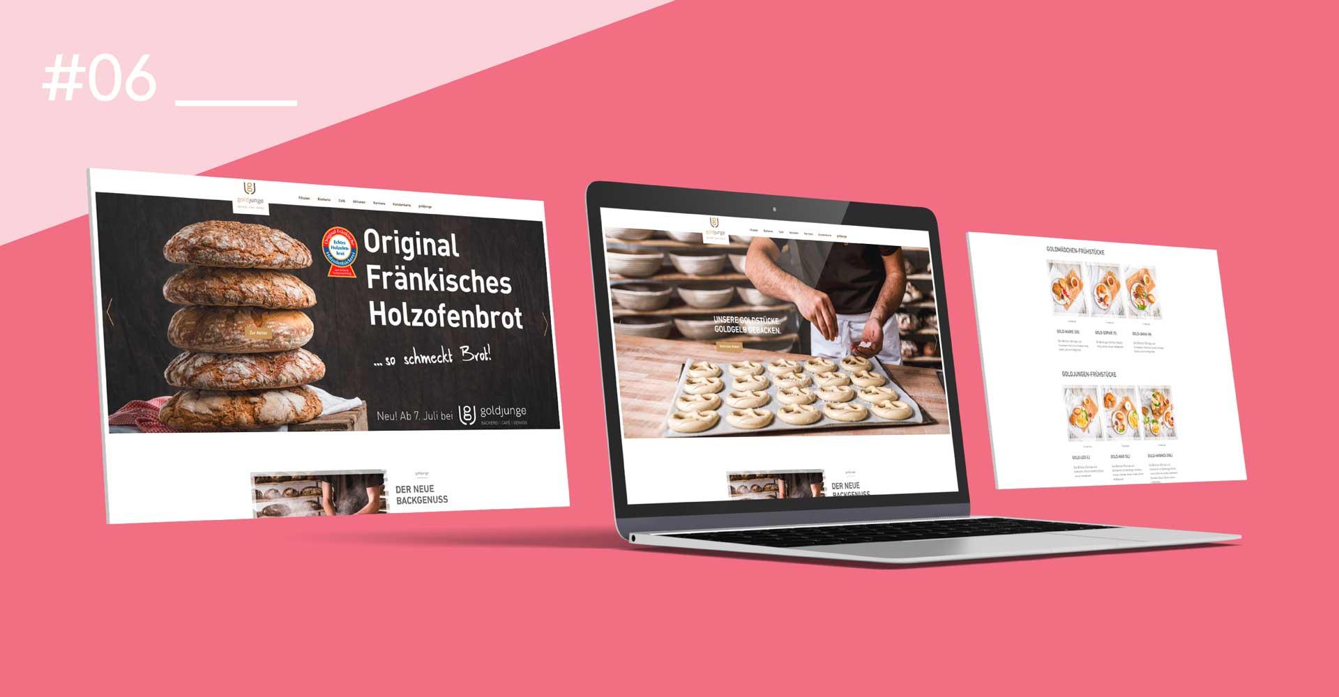 OPUS Marketing / Food & Beverage / goldjunge Website / Webdesign