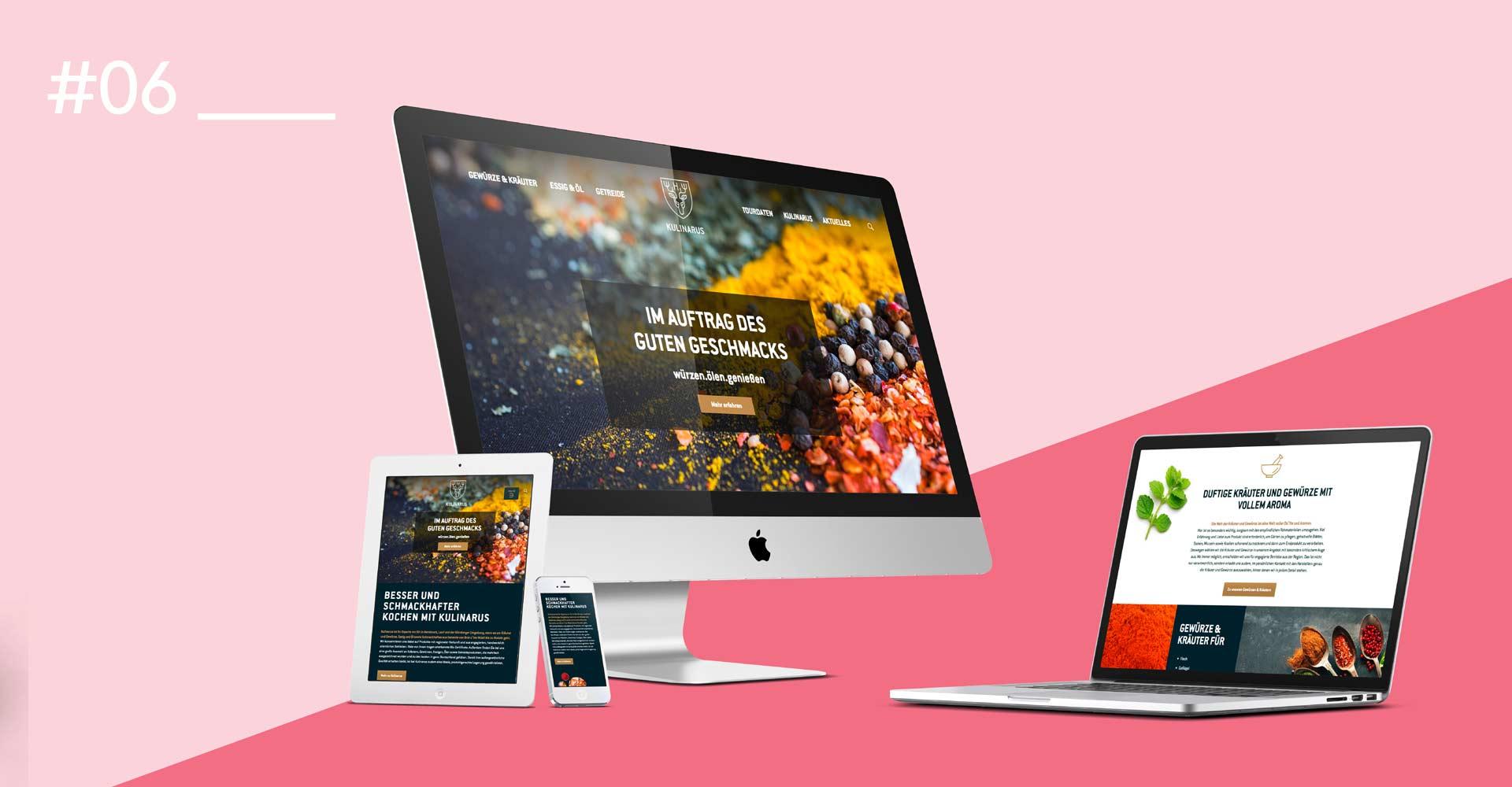 OPUS Marketing / Food & Beverage / Website responsive