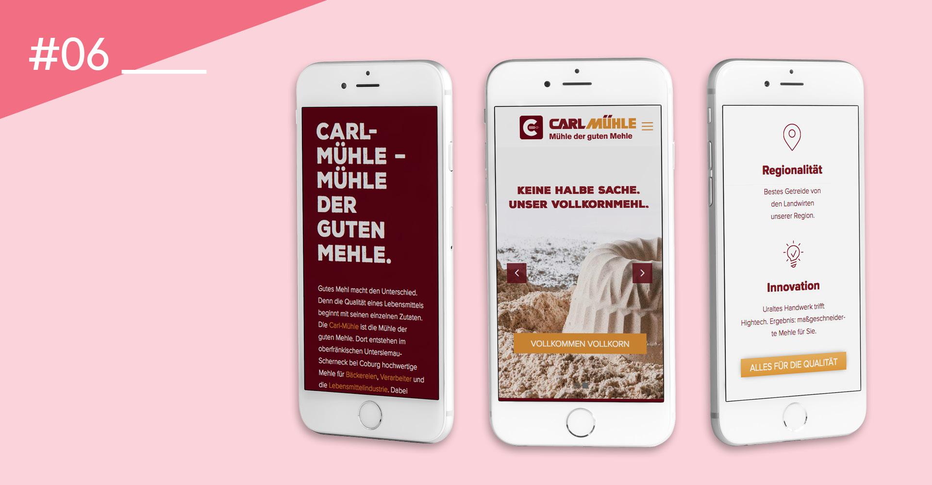 OPUS Marketing / Food & Beverage / Carl Mühle / Website