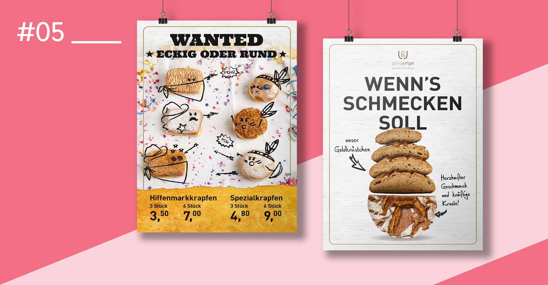 OPUS Marketing / Food & Beverage / Plakat goldjunge