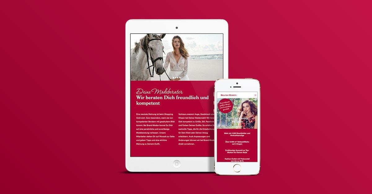 OPUS Marketing / Blog / Neue Website Brand Moden Leidersbach mobil