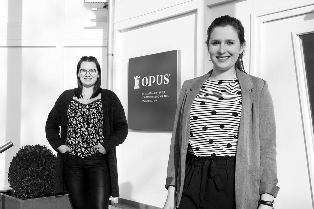 OPUS Marketing / Blog / Neue Mitarbeiterinnen Danica und Johanna