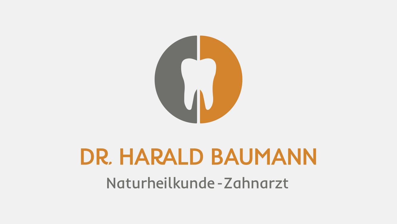 Praxismarketing / Logo Zahnarzt Dr. Baumann / Markenaufbau / OPUS Marketing