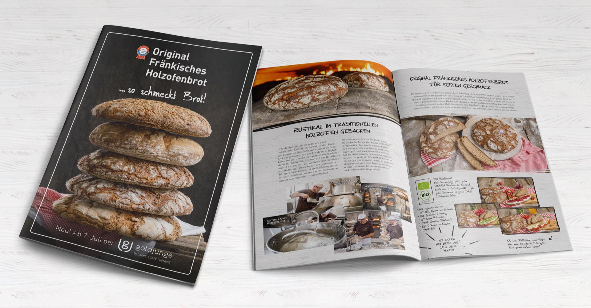 OPUS Marketing / goldjunge Holzofenbrot / Holzofenbrot Flyer