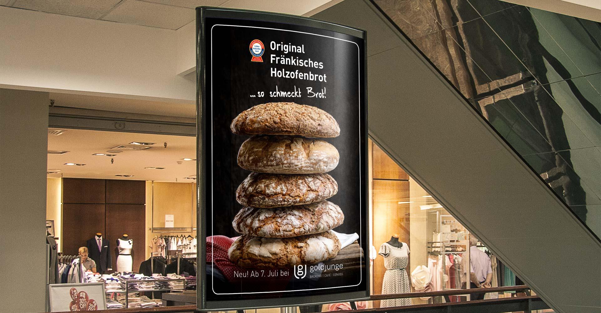 OPUS Marketing / goldjunge Holzofenbrot / Holzofenbrot Plakat