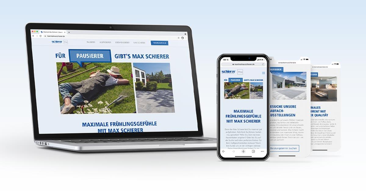 OPUS Marketing / Blog / Frühlingskampagne Schierer Landingpage