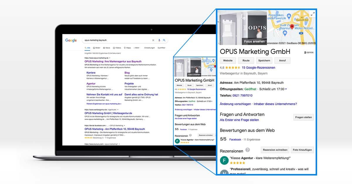 OPUS Marketing / Bog / Google My Business