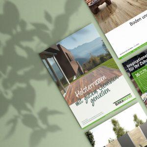 Print-Katalog mit Holzterrassen von OPUS Marketing für Habisreutinger Holzzentrum