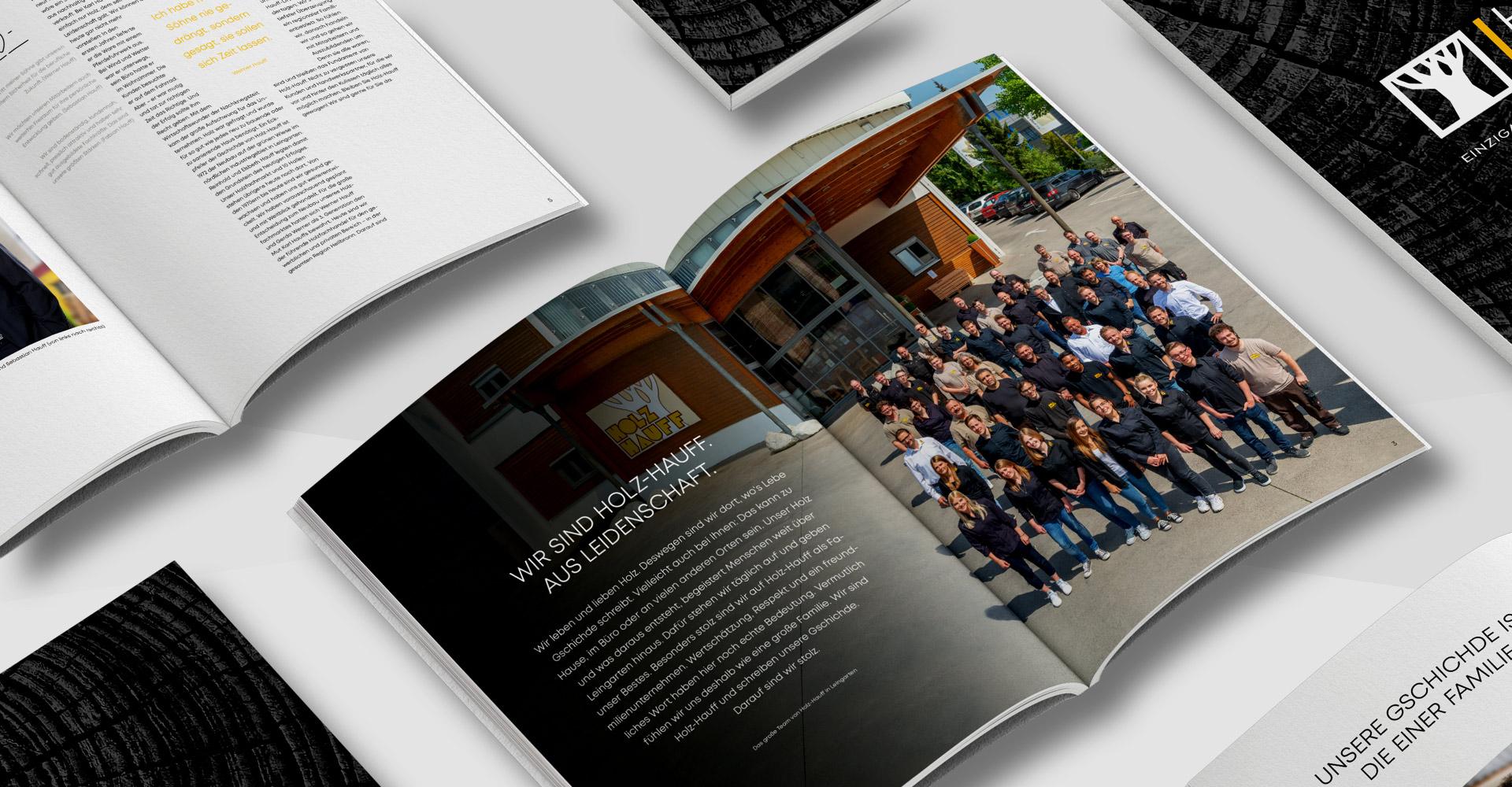OPUS Marketing / Holz Hauff / Marke Imagebroschüre