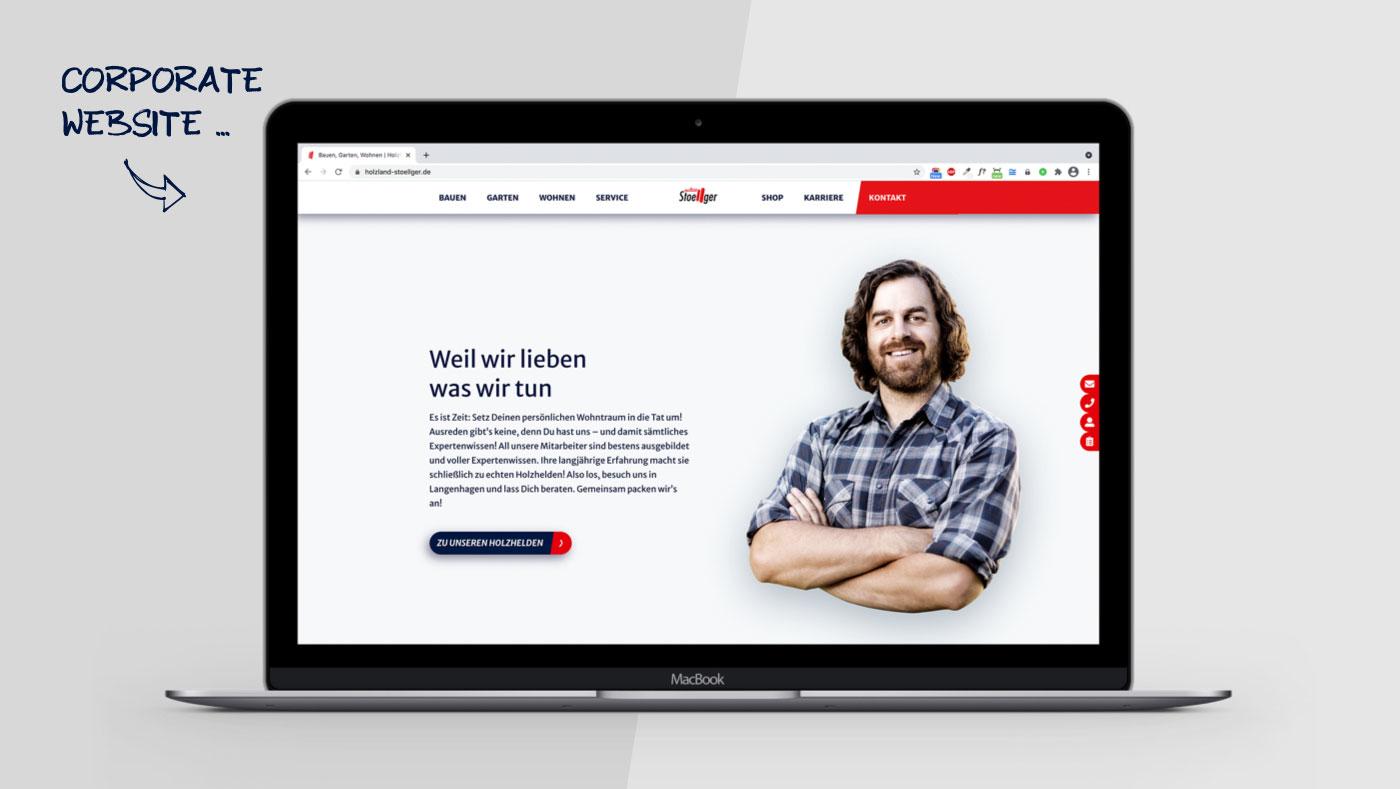 OPUS Marketing / HolzLand Stoellger / Website