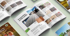 Übersichtlich, schnell und leicht lesbar präsentierte Terrassendielen im Katalog von OPUS Marketing