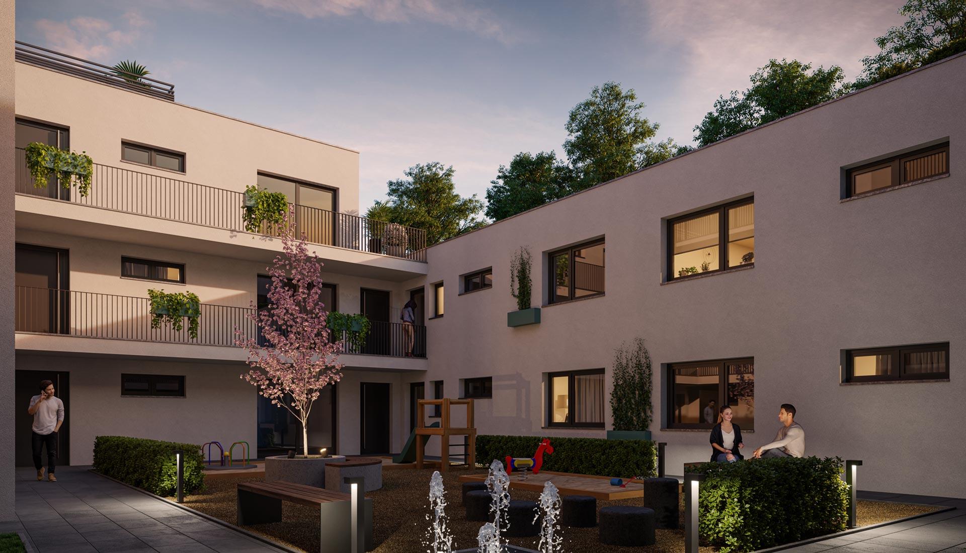 OPUS Marketing / Projekte / Atrio310 Rendering Atrium