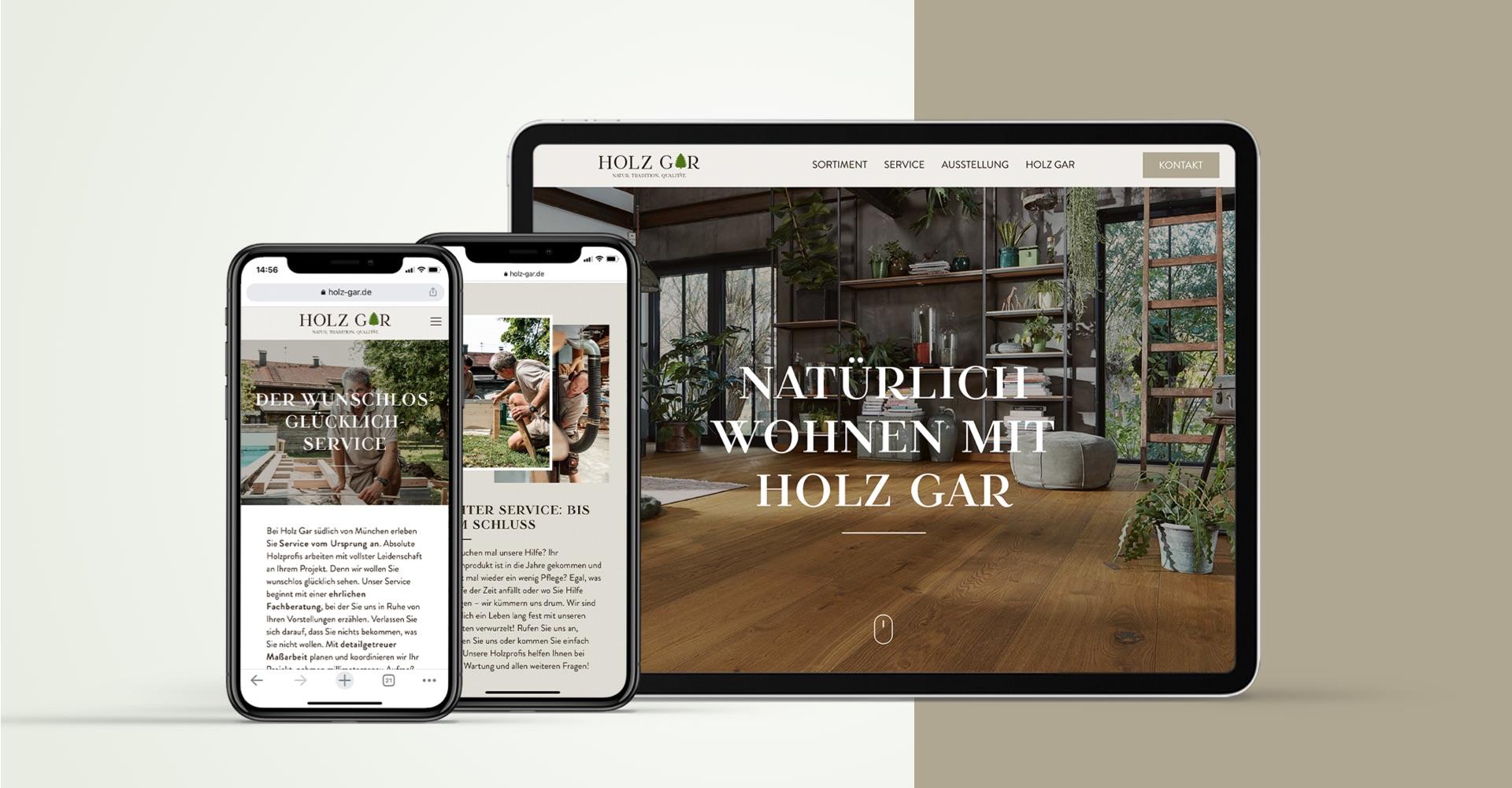 OPUS Marketing / Holz Gar / Website